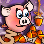Piggy Wiggy 3 Nuts Game Online kiz10