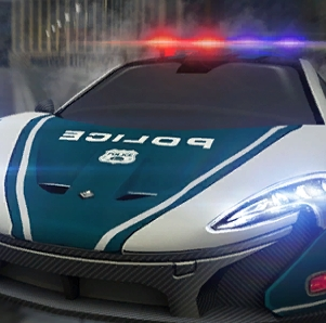 Dubai Police Supercars Rally Game Online kiz10