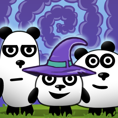 3 Pandas in Fantasy Game Online kiz10