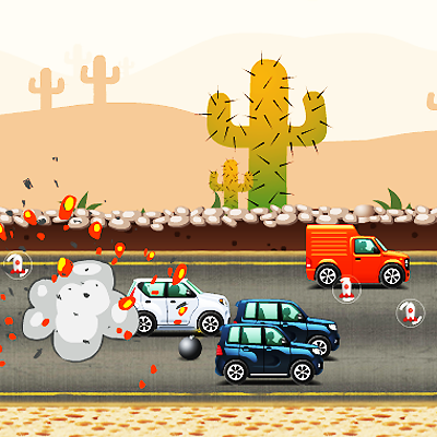 Bombing Cars Game Online kiz10