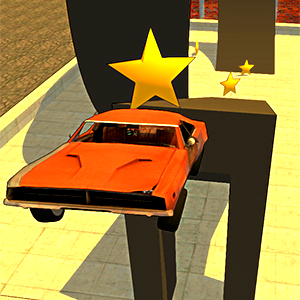 Rooftop Car Stunts Game Online kiz10