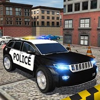 Police Car Parking Game Online kiz10