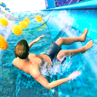 Water Slide 3D Game Online kiz10