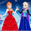 Elsa with Anna Dress Up Game Online kiz10