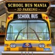 3D Parking School Bus Mania Game Online kiz10