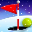 Winter Golf 3D Game Online kiz10