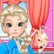 Elsa Perfect Nail Game Online kiz10