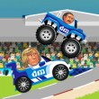 Sports Heads Racing Game Online kiz10