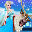 Rudolph and Elsa in the Frozen Forest Game Online kiz10