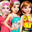 Princesses Movie Night Game Online kiz10