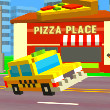 Game Pixel Road: Taxi Depot