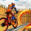 SuperHero BMX Space Rider Game Online kiz10