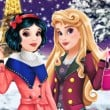 Aurora and Snow White Winter Fashion Game Online kiz10