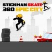 Stickman Skate 360 Epic City Game Online kiz10