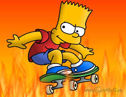 Skating with Bart Simpson