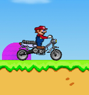 Super Mario motorbike