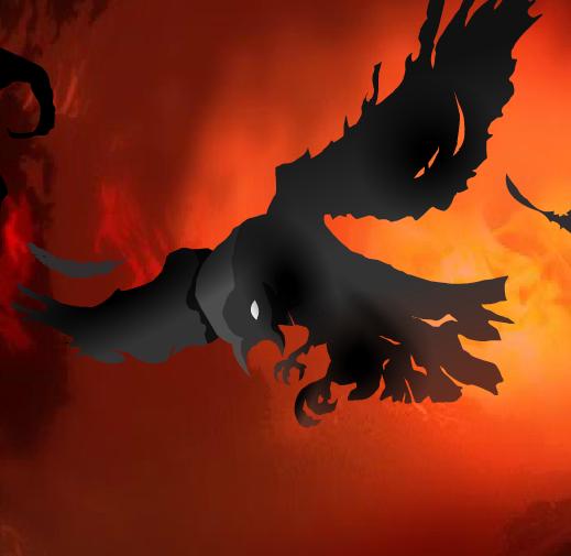 Hellish crow