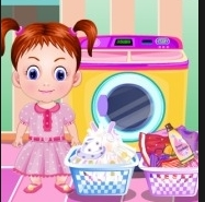 Baby Emma Washing Clothes