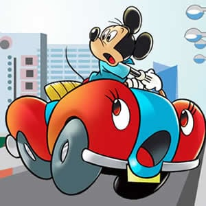 Game Mickey Car Puzzle