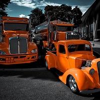 Game Orange Trucks Puzzle