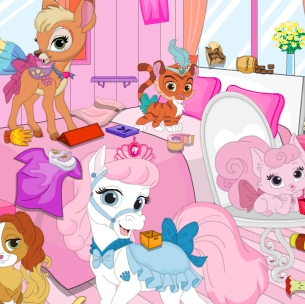 Princess Pets Room Cleaninge Game Online kiz10