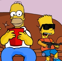 Game The Simpsons: Bart Rampage