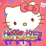 Hello Kitty Face Painting