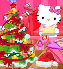 Game Hello Kitty Christmas Room Clean Up