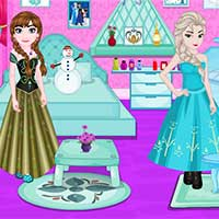Game Elsa And Anna Room Decoration