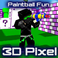 play Paintball Fun 3d Pixel