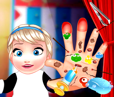 Game Baby Elsa Hand Doctor