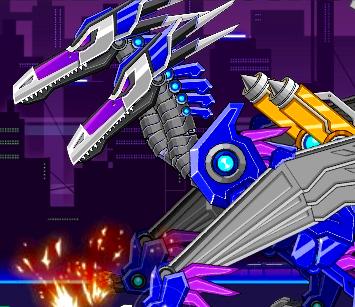 Toy War Robot Double Head Pterosaur