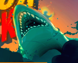 Sharkosaur Attack