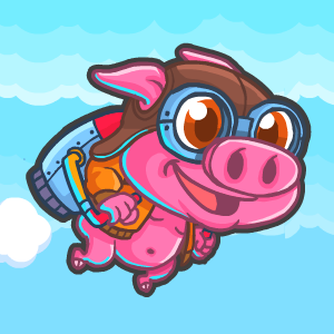 Game Rocket Pig - Tap to Fly