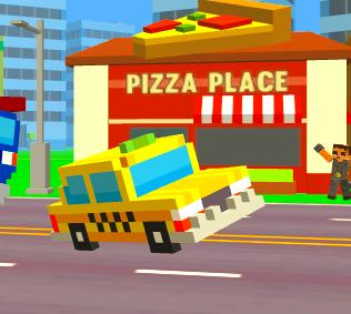 Game Pixel Road: Taxi Depot