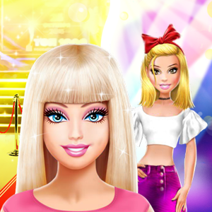 Game Barbie and Lara Red Carpet Challenge
