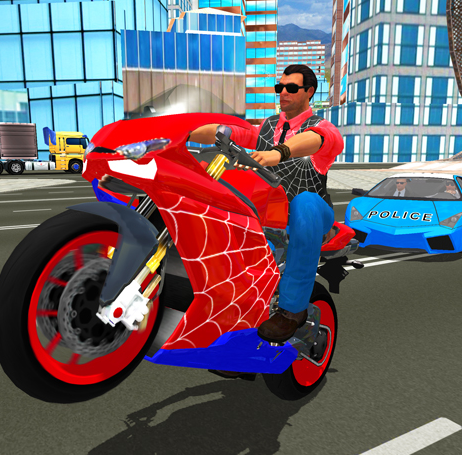 play Hero Stunt Spider Bike Simulator 3D
