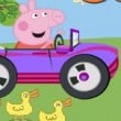 Peppa Pig Car Race Game Online kiz10