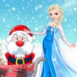 Elsa Helps Santa Game Online kiz10