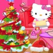 Hello Kitty Christmas Room Clean Up Game Online kiz10