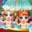 Frozen Baby Bath Game Online kiz10