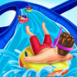 Game Slippery Water Slides Aquapark.io